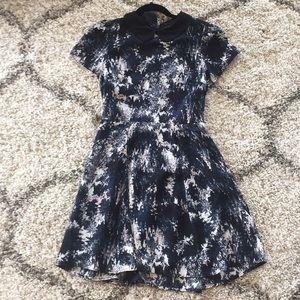 Aqua Size S dress black and blue